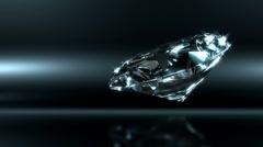Glamorous Diamond With Magic Sparks Stock Footage