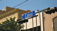 Canal Street Sign Time-Lapse - stock footage