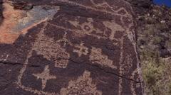 Petroglyph Stock Footage