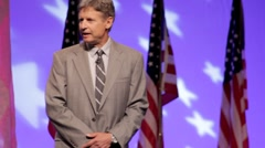 Presidential Candidate Gary Johnson - Running for office speech Stock Footage