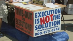 Protest against the death penalty  - stock footage