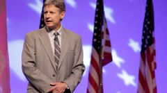 Presidential Candidate Gary Johnson - Getting elected Stock Footage