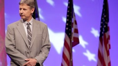 Presidential Candidate Gary Johnson - Business experience Stock Footage