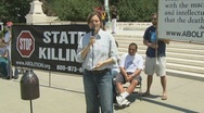 Protest against the death penalty  Stock Footage