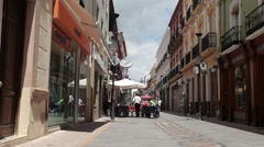 Ronda Spain pedestrian walk P HD 9948 Stock Footage
