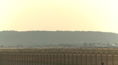 Landing plane slow motion 2 - stock footage