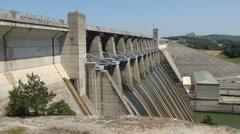 Table Rock Lake Dam 2 Stock Footage