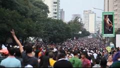 LGBT Gay Pride Parade Sao Paulo Brazil Stock Footage