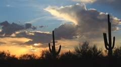 Beautiful Arizona Sunset Time Lapse Stock Footage
