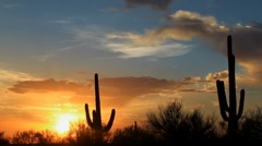Magnificent Arizona Sunset Time Lapse Stock Footage