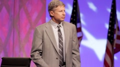 "Presidential Candidate Gary Johnson - ""Department of Education"" - Speech Stock Footage"