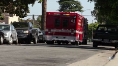LAFD in Hollywood Stock Footage
