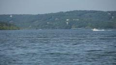 Boats cruising on Table Rock Lake Stock Footage