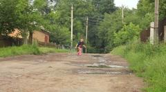 Boy running Stock Footage