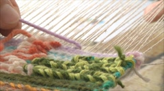 Manufacture of tapestry 2 Stock Footage