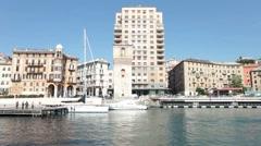 Savona Italy city across marina P HD 0345 Stock Footage