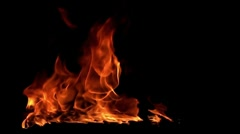 Fire flame / 8х slow motion - stock footage
