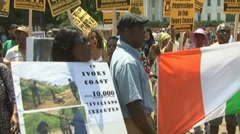 Pro-Gbagbo protest Stock Footage
