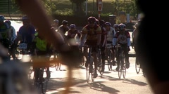 bike race - stock footage