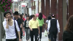 Shopping street in Shanghai - stock footage