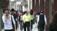 Stock Video Footage of Shopping street in Shanghai