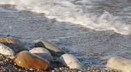 Stones and surf Stock Footage