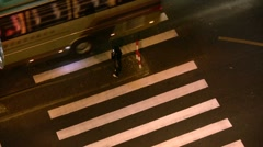 Pedestrians at intersection in Shanghai (time lapse) Stock Footage