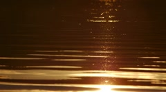 Sunset water surface Stock Footage