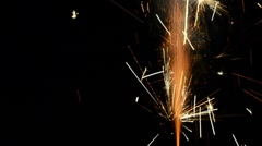 Firework Spark Crackles [on black background] HD - stock footage
