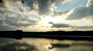 Sunset at lake Stock Footage