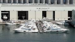 Savona Italy Azimut Yachts P HD 8814 Stock Footage