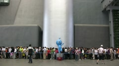 Shanghai Expo 2010 waiting lines - stock footage