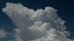 Clouds Climb Blue Sky Stock Footage