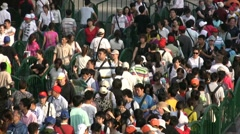 Stock Video Footage of Expo 2010 waiting line