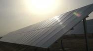 Stock Video Footage of Solar Panel Sunburst
