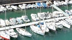 Savona Italy marina sailboats P HD 8789 Stock Footage