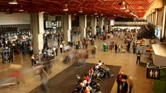 Guarulhos Airport check in area time lapse Sao Paulo Brazil FULL HD 1080P Stock Footage