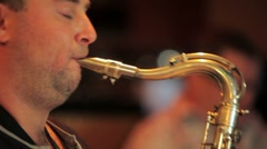 Playing on sax. HD Stock Footage