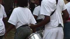 Urban Youth Drumming and Dancing Stock Footage