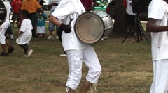 Stock Video Footage of Urban Youth Drumming and Dancing