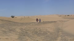 Walking in the Dunes Stock Footage