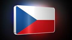 Czech Republic 3d flag Stock Footage