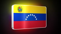 Venezuela 3d flag Stock Footage