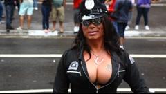 S&M at LGBT Gay Pride Parade Sao Paulo Brazil Stock Footage