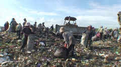 CAMBODIA-GARBAGE DUMP 86 Stock Footage