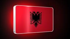 Albania 3d flag Stock Footage