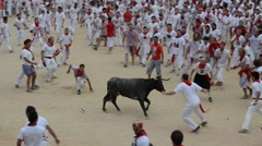 Bulls run. San Fermin. Pamplona. Spain - stock footage