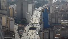 Sao Paulo Brazil skyline - traffic  FULL HD 1080P Stock Footage