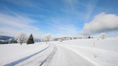 Winter road Stock Footage