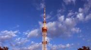 TV transmitter tower in Kyiv, Ukraine Stock Footage